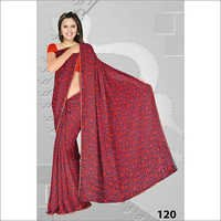 Embroidery Print Saree Manufacture In Gujarat