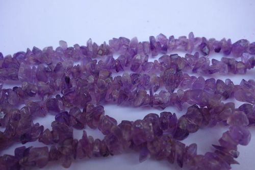 natural 34 inch amethyst uncut beads gemstone one strand