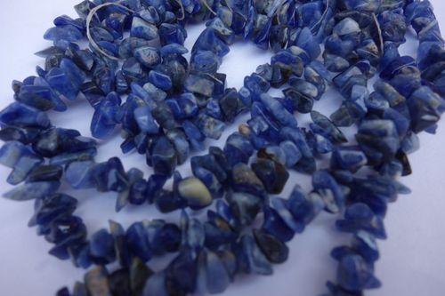 natural 34 inch sodalite uncut beads gemstone one strand