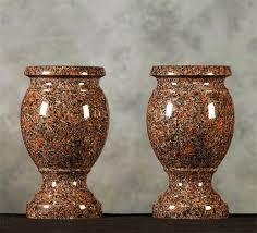 Red Classic Granite Vase