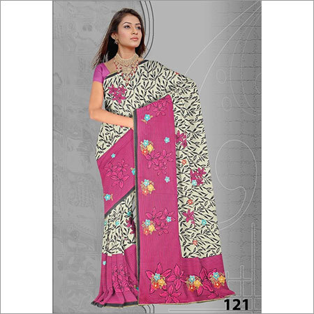 Small Print Embroidery Saree