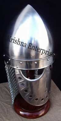 Spectacle Helmet With Chain Mail