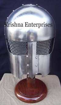 Viking Helmet With Chain Mail