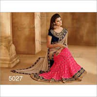 Pure Georget Pink sarees