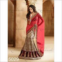 Off white Pink Wedding sarees