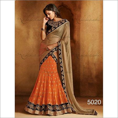 Orange  sarees