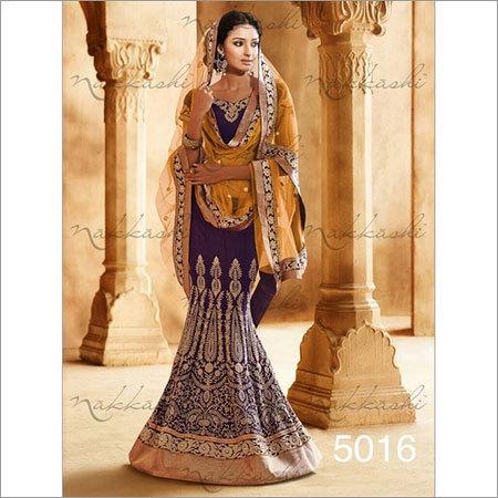 Dark blue Wedding sarees