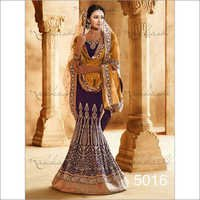 Dark blue Wedding sarees