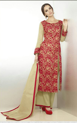 Green Designer Organdy Plazzo Style Suit