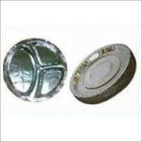 Silver Laminated Compartment Paper Plate