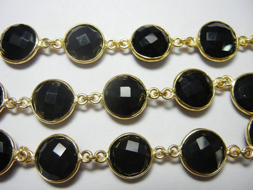 BLACK ONYX Bezel Station Connector Chain Sell Per Foot