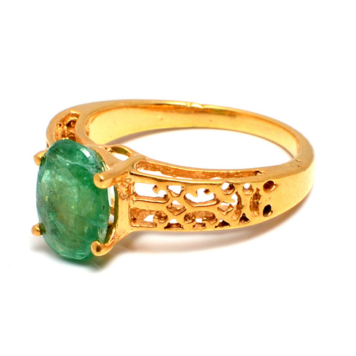 Natural Emerald Gemstone Ring