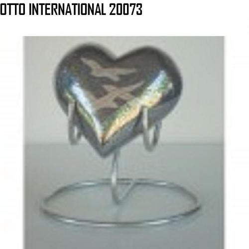 Brass Heart keepsake urns with stand