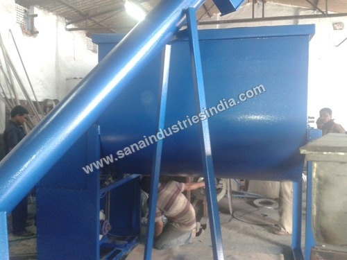 MS Ribbon Blender with Screw Conveyor