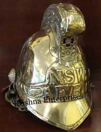 Brass NSW FB Fireman Helmet