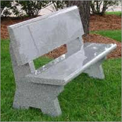 Grey Granite Grave Bench