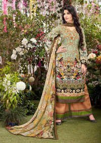Green Designer Cotton Suit