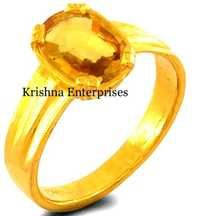 Gold Finish Stone Ring