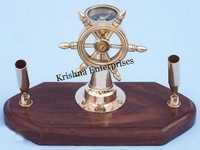 Brass Wheel Pen Holder