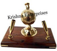 Brass Globe Pen Holder