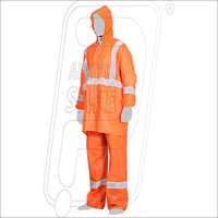 High Visibility Fluorescent Raincoat