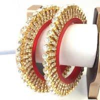 Imitation Gold Plated Gokhru Bangles