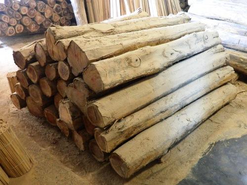teak logs