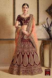 Wedding And Partywear Velvet Lehengas