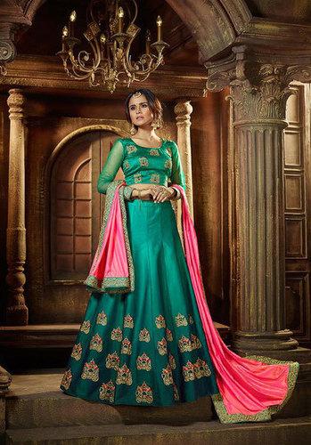 karma lehenga design 18-23 satin silk catalog