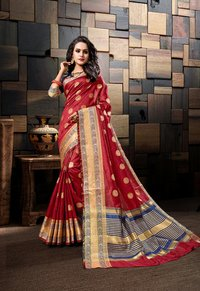 Latest Cotton Silk Weaving Saree