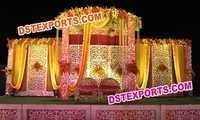 Rajasthani Weddings Stage Backdrop