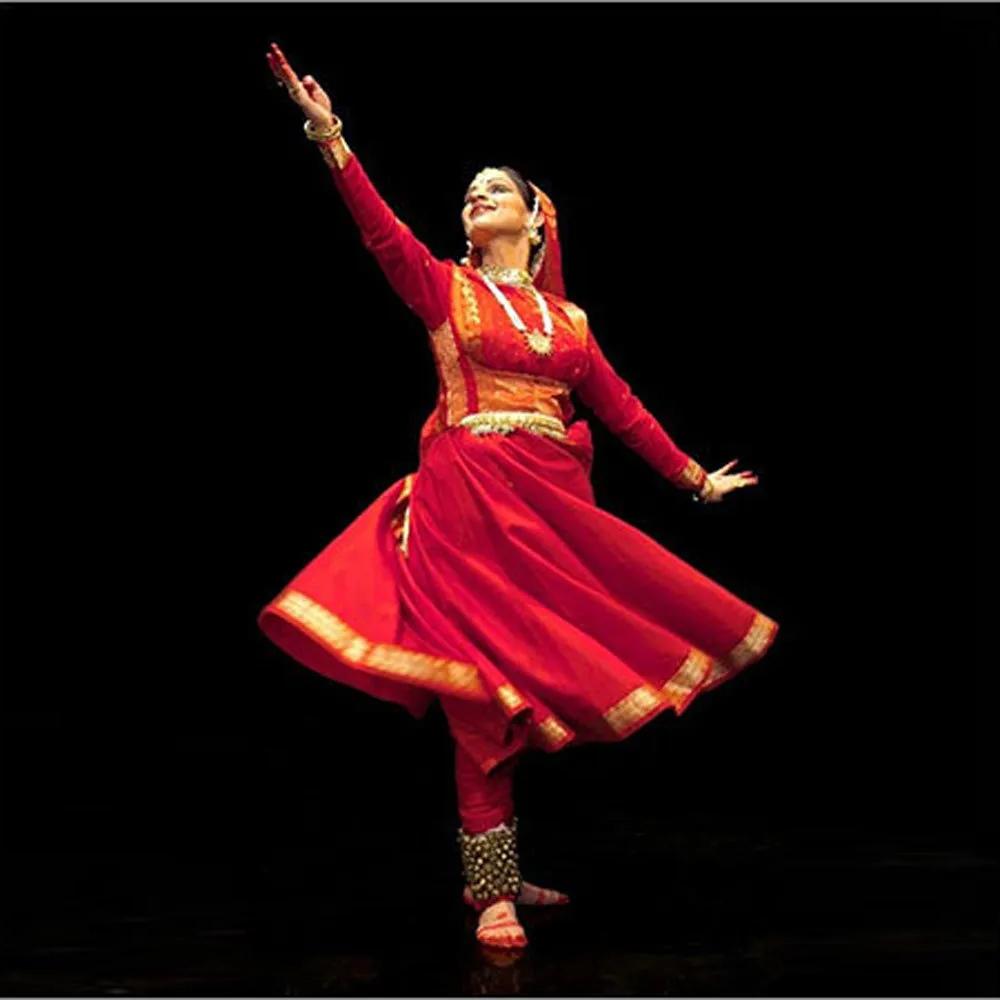 Red Kathak Dance Costume Red Kathak Dance Costume