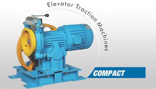 Compact Elevator Traction Machine