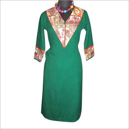 Green Woolen Kurti
