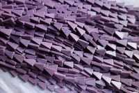 10 STRANDX14 INCH INDIAN PURPLE TURQUOISE LINING  6X9MM  TO 8X11MM PLAIN TRIANGLE GEMSTONE  BEADS