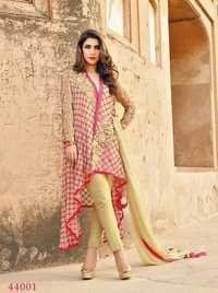 Beige Stylish Georgette Party Wear Suit