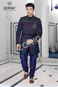 Mens Striped Sherwani