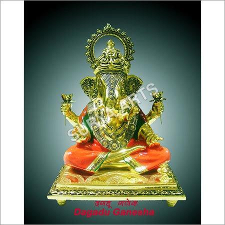 Metal Dagadu Ganesh Statue