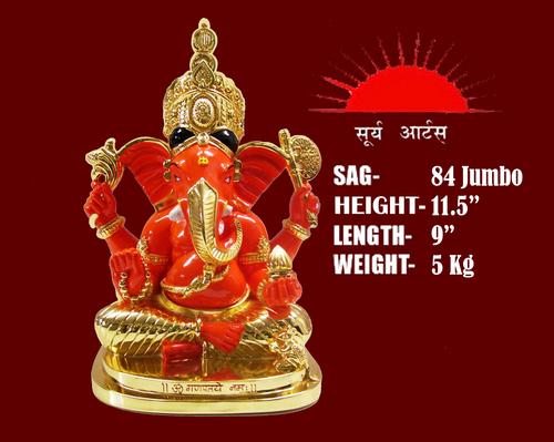 Gold Plated Siddhivinayak Idol