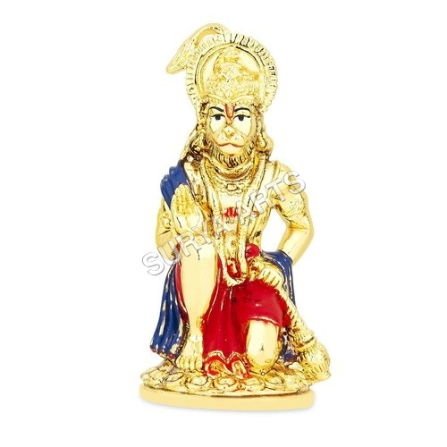 Gold Plated Hanuman Statue