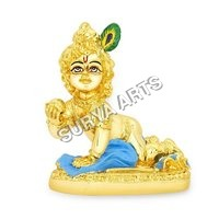 Gold Plated Krishna Statue