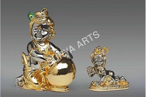 24K Gold Plated Krishna Statue
