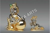 Pure Gold Plated Krishna Statue
