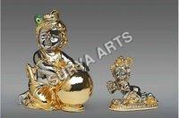 Pure Gold Plated Krishna Statue