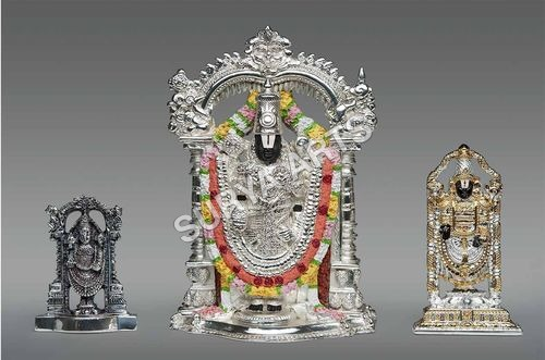 Gold Plated Balaji Idol