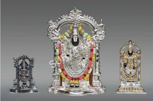 Gold Plated Balaji Idol