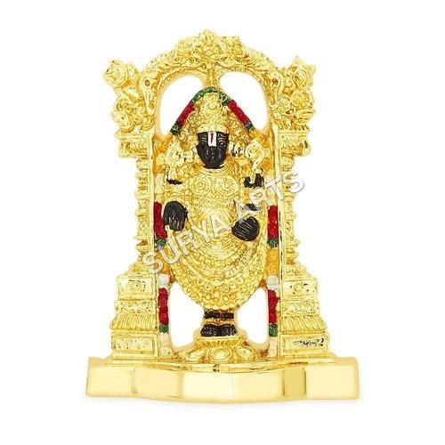 Lord Balaji Gold Plated Idol