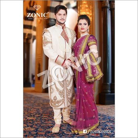 Zari Embroided Angrakha Sherwani