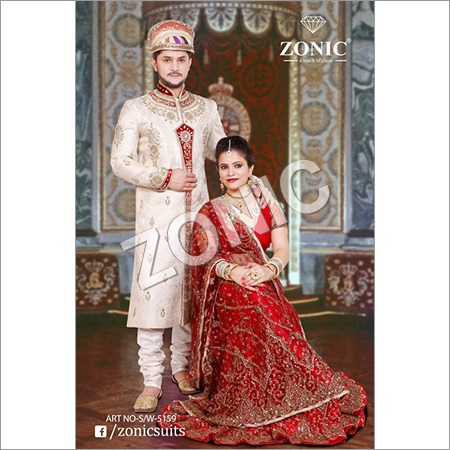 Embroided Silk Sherwani