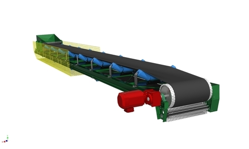 horizontal belt conveyor 2